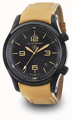 Elliot Brown Cadran noir cuir cuir canford 202-008-L04