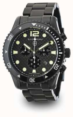 Elliot Brown plaqué pvd noir Mens cadran en carbone 929-002-B03