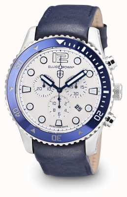 Elliot Brown Cadran de cuir bleu bloxworth 929-008-L06