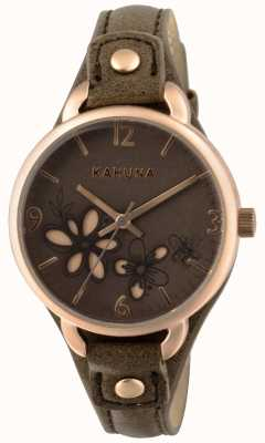 Kahuna Femmes taupe bracelet brun cadran KLS-0310L