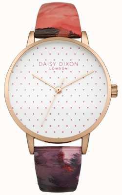 Daisy Dixon Montre à bracelet en cuir suki rose brillant pour femme DD008PRG