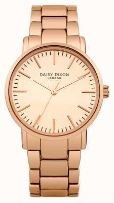 Daisy Dixon cadran miroir Womens kate mat rose pvd or DD004RGM