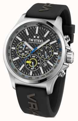 TW Steel Mens en acier inoxydable de bracelet en caoutchouc noir TW938