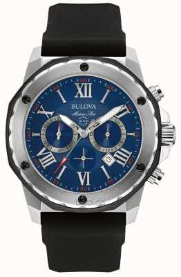 Bulova cadran bleu étoiles Marine 98B258
