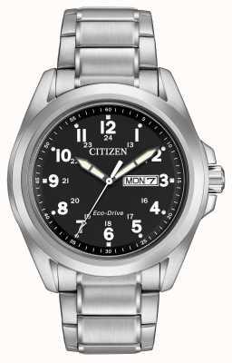 Citizen Bracelet sport à cadran noir Eco-drive AW0050-82E