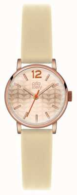 Orla Kiely bracelet en or rose crème cas pvd OK2012