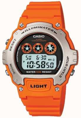 Casio Chronographe unisexe avec alarme sportive W-214H-4AVEF