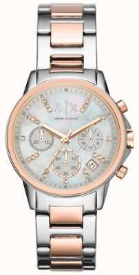 Armani Exchange Chronographe deux tons montre bracelet AX4331