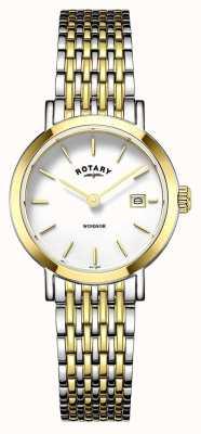 Rotary Womens bracelet deux tons LB05301/01