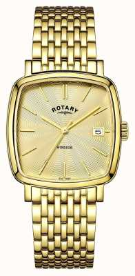 Rotary Plaqué Mens windsor pvd or GB05308/03
