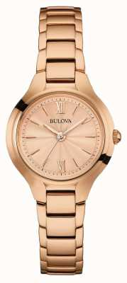 Bulova Womens rose finition dorée 97L151