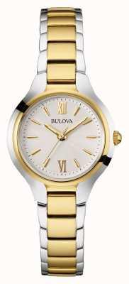 Bulova Womens deux tons bracelet cadran rond 98L217