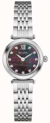 Bulova Femmes bracelet métal noir mère du cadran nacre 96S169