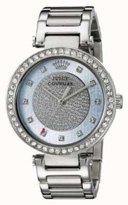 Juicy Couture Womens bracelet en argent cadran argenté rond 1901266