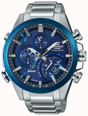 Casio Edifice bluetooth synchro solaire intelligent smartwatch bleu EQB-501DB-2AMER