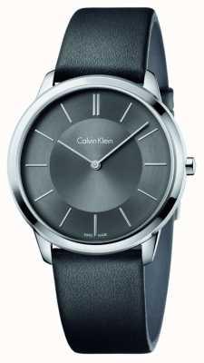 Calvin Klein Mens minimal bracelet en cuir noir K3M211C4