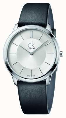 Calvin Klein Mens minimal bracelet en cuir noir K3M211C6