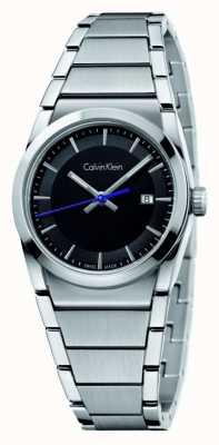 Calvin Klein Mens étape de cadran noir K6K31143