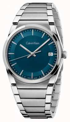 Calvin Klein Mens cadran étape sarcelle K6K3114L