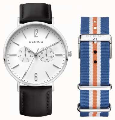 Bering cuir unisexe bracelet à double 14240-404