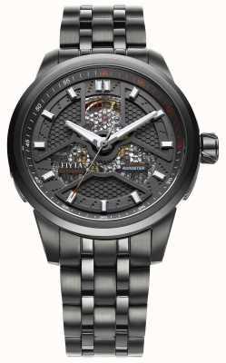 FIYTA Mens enduit noir bracelet en acier inoxydable GA8460.BBB