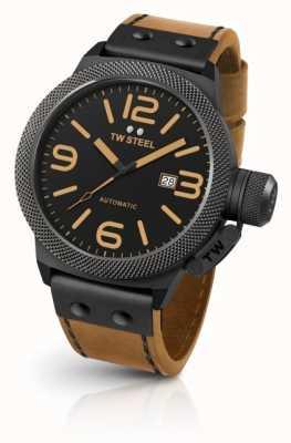 TW Steel Canapé pour hommes bracelet marron clair cadran noir CS45