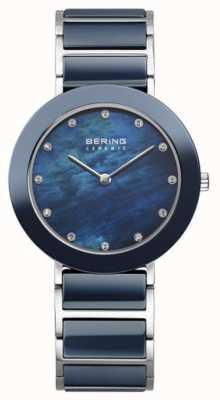 Bering cadran bracelet bleu marine Womans marine métallique 11435-787