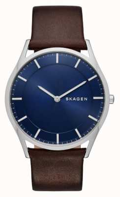 Skagen cuir marron montre holst SKW6237