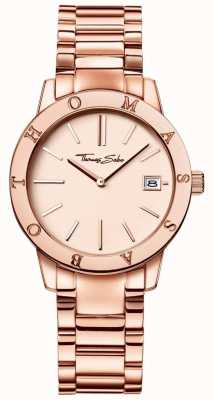 Thomas Sabo Womans rose acier inoxydable or cadran couleur WA0175-265-208-33