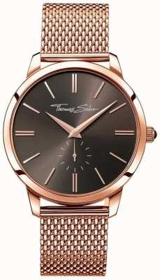 Thomas Sabo Mens bracelet en acier inoxydable rose cadran en or WA0177-265-206-42
