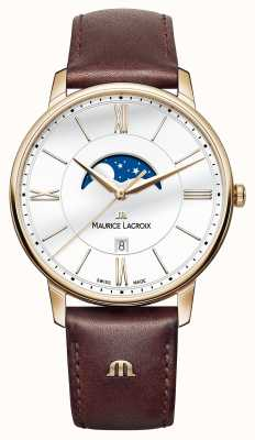 Maurice Lacroix sangle moonphase cuir marron de Mens EL1108-PVP01-112-1