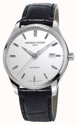 Frederique Constant Mens index classiques automatique bracelet en cuir noir FC-303S5B6