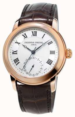 Frederique Constant Mens fabrication classique bracelet brun en cuir FC-710MC4H4