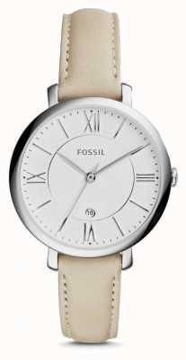 Fossil Womens crème jacqueline bracelet en cuir ES3793