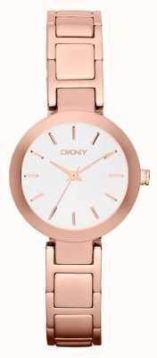 DKNY Womans cadran rose blanche bracelet en or NY2400