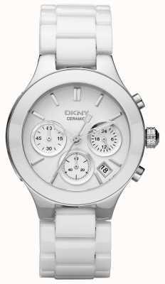 DKNY Womans cadran de chronographe blanc bracelet blanc NY4912