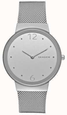 Skagen Womans cadran argenté rond en métal argenté bracelet en maille SKW2380