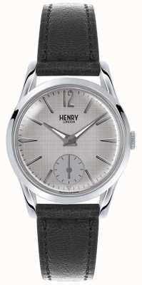 Henry London Womans cadran gris bracelet en cuir gris HL30-US-0073