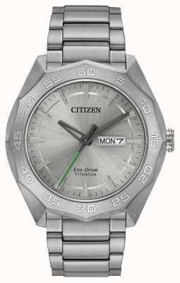 Citizen Bracelet titane titane bracelet argenté AW0060-54A