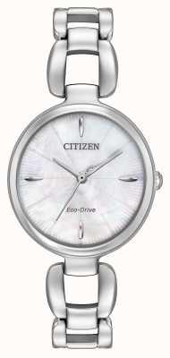 Citizen Womens bracelet en acier inoxydable cadran en nacre EM0420-54D