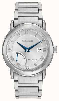 Citizen Mens bracelet éco-disque en acier inoxydable AW7020-51A