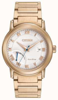 Citizen plaqué or Mens eco-drive réserve de marche Bracelet AW7023-52A