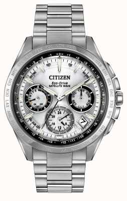 Citizen Mens eco-drive satellite argent f900 d'onde CC9010-74A
