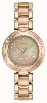 Citizen plaqué Femmes eco-drive six diamants or EM0463-51Y
