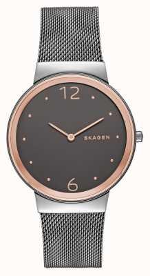 Skagen Womans acier inoxydable cadran bracelet en maille gris SKW2382