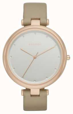 Skagen Womans cuir beige cadran bracelet en argent SKW2484