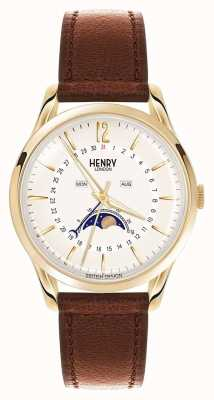 Henry London Boucle en cuir brun Westminster HL39-LS-0148