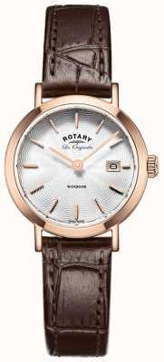 Rotary Womens les originales windsor bracelet en cuir brun LS90157/02