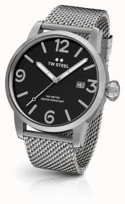 TW Steel Mens maverick bracelet en maille cadran noir MB11