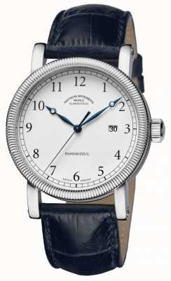 Muhle Glashutte Teutonia iii handaufzug bracelet en cuir blanc cadran M1-08-01-LB